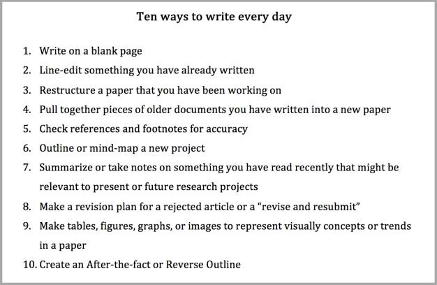 10-ways-to-write-every-day